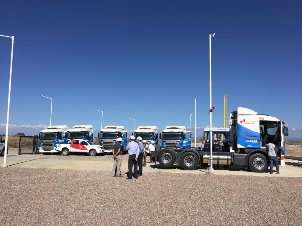 Camiones Scania en primera carga